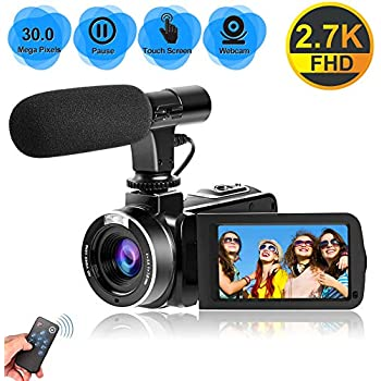 Videocamara 4K Cámara de Video 30MP WiFi Videocámara