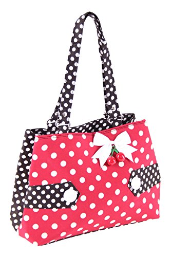 SugarShock Karlotti 50s Polka Dots Kirschen Rockabilly Uniform Tasche Handtasche - 2