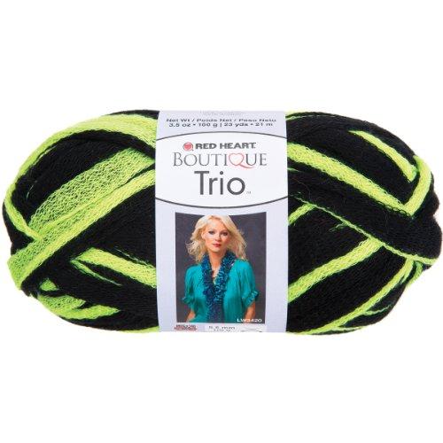 Coats Garn, Rot Herz Boutique Trio yarn-neon gelb, andere, mehrfarbig -