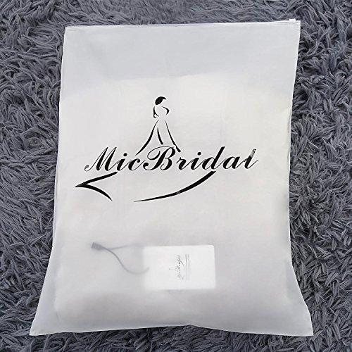 MicBridal®robe de soirée longue cocktail mariée robe de bal longue princesse col V Coeur tulle dentelle à fleur Menthe