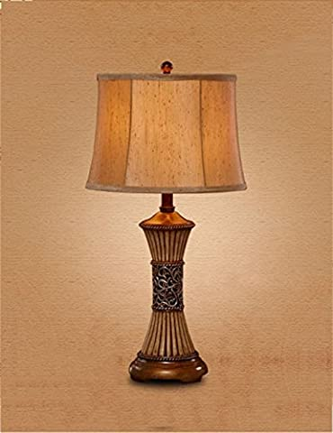LQCHUAJIA Table Lamp European - Style Retro Creative Decorative Table Lamp Bedroom Bedside Lamp Reading