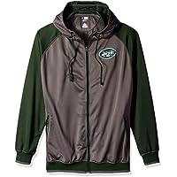 NFL Herren Jets Full Zip Poly Fleece RAGLA, Herren, NFL7C7AM
