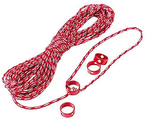 MSR Kit de cordes rouges réfléchissantes multi-usages cordelette