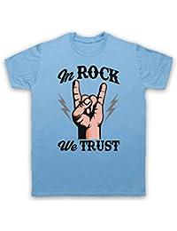 In Rock We Trust Music Slogan Herren T-Shirt