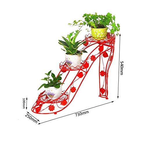 MTG Eisen Blumenständer Mehrschichtige Indoor Blumentopf Rack Wohnzimmer Lagerregal Balkon Blumenständer Boden Pflanze Stehen Möbel Zubehör Schön und Großzügig