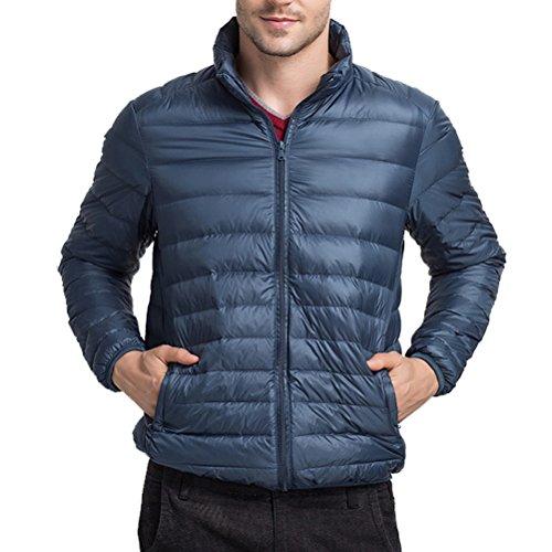 Zhuhaitf GUTE QUALITÄT Mens Boys Winter Lightweight Down Jacket Warm Outwear Stand Collar Blue