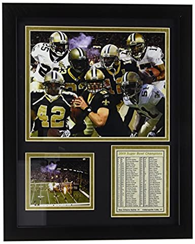 Legends Never Die New Orleans Saints 2009 Champions encadrée Photo Collage, 11 en 35,6 cm