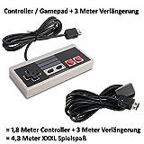Game Controller passend für Nintendo Classic Mini NES und 3 Meter Verlängerungskabel im XXXL Set Hersteller: Y-Mai