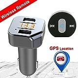 Bluetooth FM Transmitter – VIDEN KFZ Auto Radio Adapter mit Fernbedienung, Autoladegerät mit Doppel USB, Freisprecheinrichtung Car Kit, App-Steuerung, LED Anzeigeschirm, KFZ Ladegerät für Smartphone