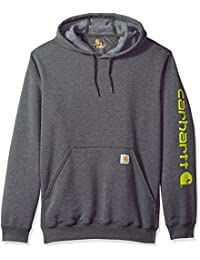 bafbed2141a8 Carhartt Men s Big and Tall B T Signature Sleeve Logo Midweight Hooded  Sweatshirt K288
