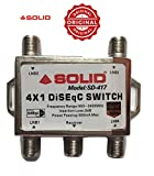 Solid SD-417 4 in 1 DiSEqC 2.0 Full HD LNB Satellite Multi-Switch (Silver)