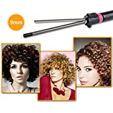 Baguette de fer de friser, outil de coiffure de cheveux de bigoudi de femmes avec l'agrafe rotative de 360 degrés -9mm, 25mm.32mm (9mm)