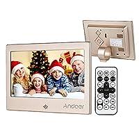 إطار صورة رقمي 7 بوصة، Andoer 7 بوصة LED إطار صورة رقمي 720P فيديو / موسيقى / تقويم / ساعة / مشغل XT 1024 * 600 إطار معدني بدقة مع جهاز التحكم عن بعد