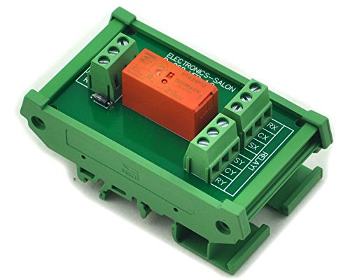 Electronics-Salon Rail DIN Support passif module relais bistable Puissance renforcée réglage/8 A, 12 V version