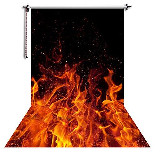 NIVIUS PHOTO 150x300cm Feuer Hintergrund Fotografie Hintergrund Portrait Fotos Requisiten Video Live Home Wanddekorationen XT-2408
