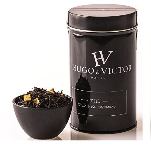 Hugo & Victor Paris - Thé Noir de Chine parfumé au Pamplemousse - Ecorces de Pamplemousse - 100g
