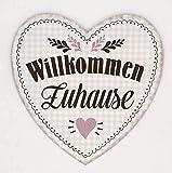 G.H. Vintage Retro Blechschild in Herzform