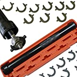 "Mekanik 10pc Inner Tie Rod End Installer Remover Tool Extra Long Shaft Socket Set 1/2"" dr"