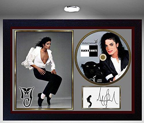 SGH SERVICES Michael Jackson unterzeichnet gerahmtes Foto CD Disk Schwarz Oder Weiß Perfekte Geschenk # 2 (Jackson Photo Framed)