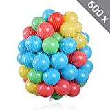 600 Stück HSM Bälle für Pop Up Bällebad Spielhaus Kinderzelt Baby Spielzelt Babypool ø 5,5 cm