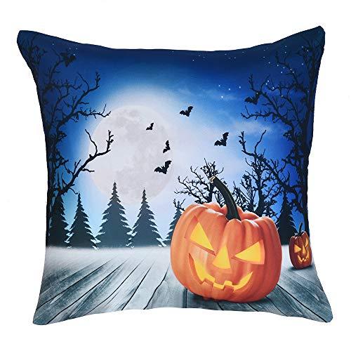 Kaiki Christmas Dekoration Throw Pillow Cover mit Weihnachtsmann, Schneemann, Lampe Muster Cushion Cover Home Decor für Festliche Hausdekoration Wohnzimmer Akzent (45X46cm, I) -