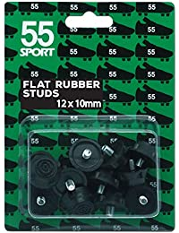 55deporte Copa Mundial de Fútbol studs, Black Rubber, 12 x 10 mm