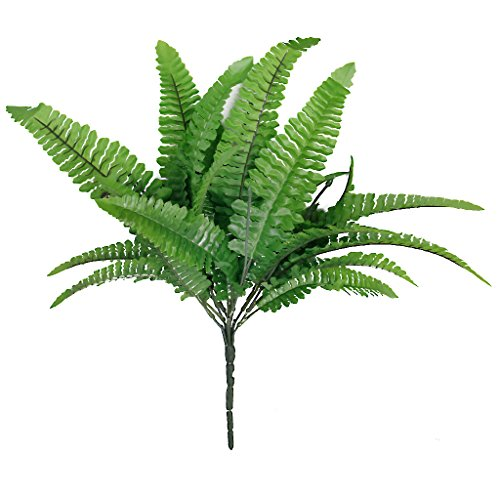 1 x Kunststoff Kunstrasen grün Künstlihche Farn Blätter Pflanze für Startseite Hochzeit Anordnung Dekor
