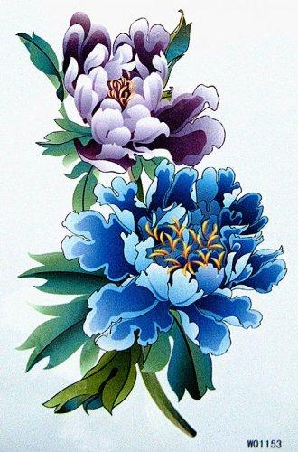 Fleurs étanche faux tatouages vente chaude couleur