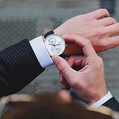 BERING Reloj Cronógrafo para Hombre de Cuarzo con Correa en Cuero 13242-404