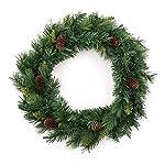 Decorazione natalizia - Corona di Natale + pigne - Diametro 60 cm - Colore: VERDE