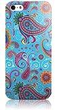 Snekz Pattern Blue Paisley Hard Gloss Case for iPhone 5/5s