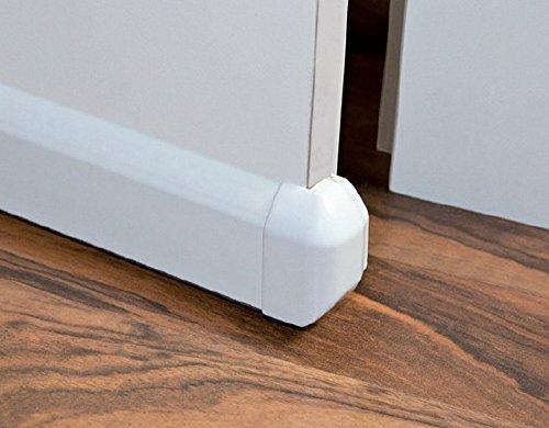 Tür-boden-dichtung (Türen-boden-dichtung 1 m - keine Chance für Zug-luft - Farbe: weiss)