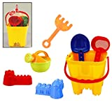 #9: IndusBay Beach Toy Set, Multicolored Beach Bucket Cum Gardening Activity Set with Hand Tools and Accessories, Summers Fun Activity