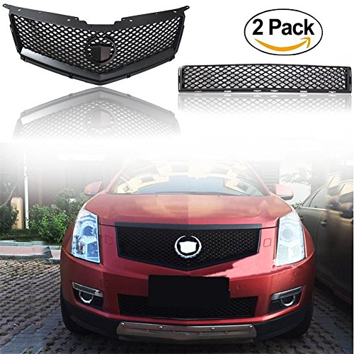 baodiparts Chrom Front Top Grill und Bottom Grille Grid Modified 1-Pack