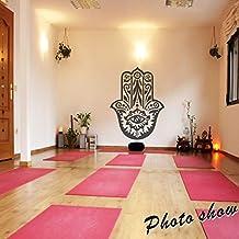 MairGwall Yoga Pared Adhesivos de Vinilo Adhesivo Indio de Mano de Fátima  India Ojo Arte decoración 9b2b18fee557