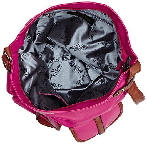 Swankyswans Gigi School Bag PU Leather Umhängetaschen Pink (Fuschia)