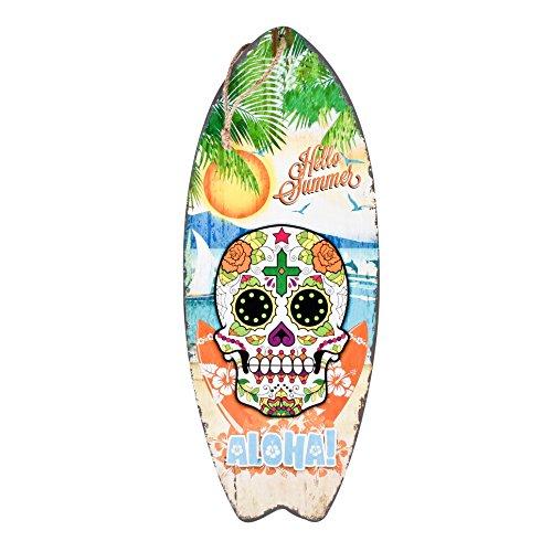 Dadeldo-Home Cartel Madera Tabla Surf Aloha Santa