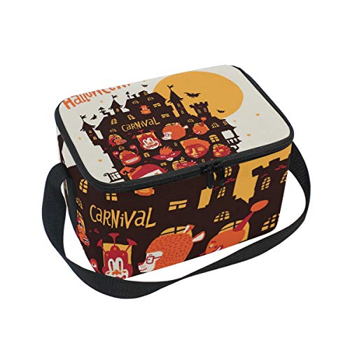 SKYDA Lunchpaket Box Insulated Lunchpaket Bag Large Cooler Happy Halloween Party Tote Bag for Men, Women, Girls, Boys