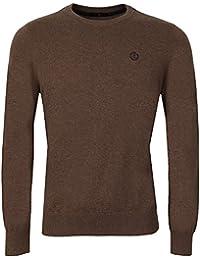Henri Lloyd Jumper - Mens Moray Knit Jumper In Brown - Various Sizes