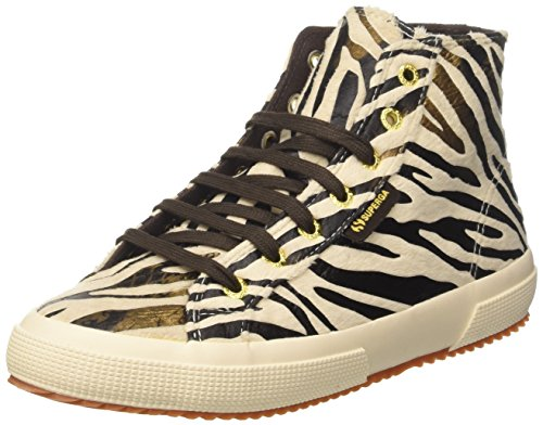 SUPERGA Women's 2795-fabricsynzebraw Hi-Top Trainer Shoes - Beige (Beige Bronze) , 5...