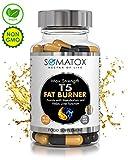 SOMATOXTM T5 Fat Burner Ultimate Keto Thermogenic Supplement Max Strength Formula Suitable for Vegans / 90 Veg Caps 30 Day Supply UK & GMP Certified