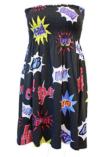 Da donna da donna Sheering Plus, tubo e spalline top vestito. Regno Unito 8–26 Boom