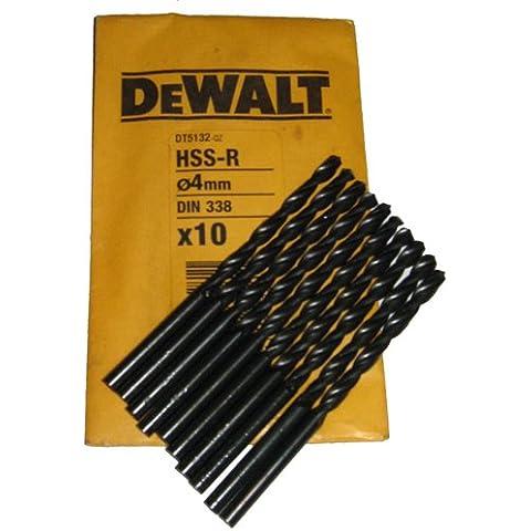 DeWalt dt5132-qz HSS-R de acero rápido HSS Bit, 4mm (12unidades)