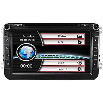 Estéreo de coche con Bluetooth, Eunavi Doble 2 Din 8 Pulgadas Car ...
