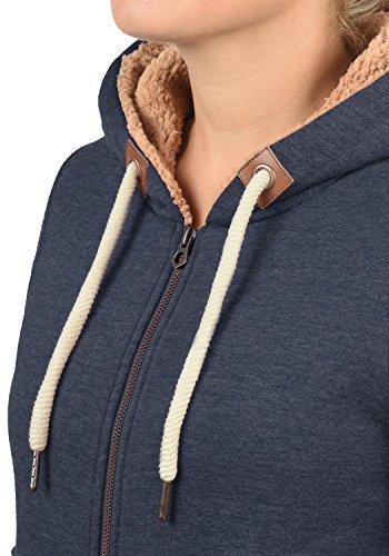 DESIRES Liki Pile-Zip - Sweat à capuche zippé - Femme Insignia Blue Melange (8991)