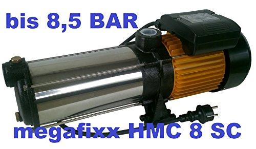megafixx HMC8SC-G94174 Kreiselpumpe - 1700 Watt | 8 stufig | 8,5 Bar - Hauswasserautomat mit Druckschalter von Güde - 4
