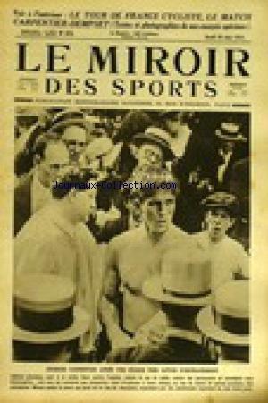 MIROIR DES SPORTS (LE) [No 52] du 30/06/1921