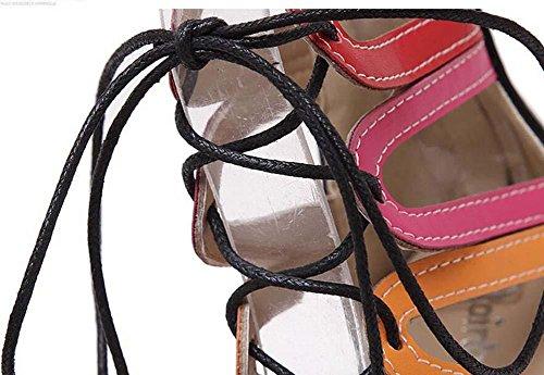 Gladiateur Cool Boots Ultra-High-Heeled Stylet Des sandales Dame Sexy Creux Cordons Cross Strap Peep Toe Fermeture éclair Des sandales Chaussures de fête Chaussures romaines Chaussures habillées Eu Ta apricot