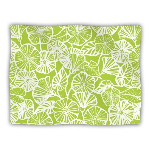 Kess eigene Jacqueline Milton Vine Shadow Lime Grün Floral Hundedecke, 60von 127cm -