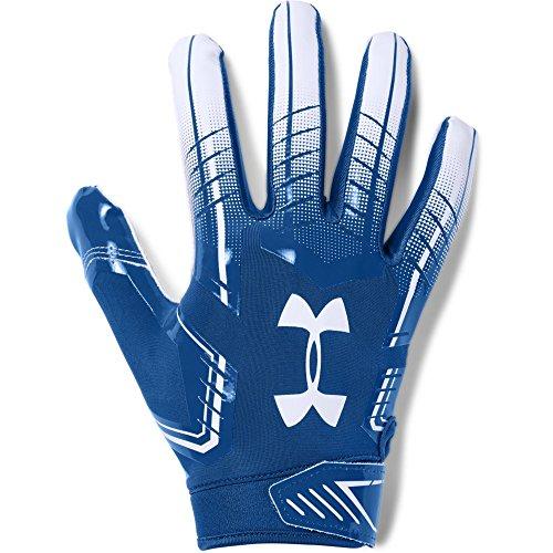 Under Armour Men's F6 Football Gloves, Medium, Royal/White